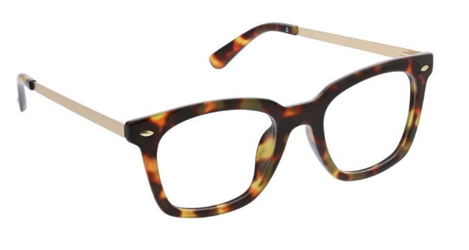 Peepers Blue Light Reading Glasses, Limelight, Tortoise