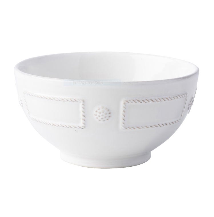 Juliska Berry and Thread Cereal/Ice Cream Bowl French Panel White
