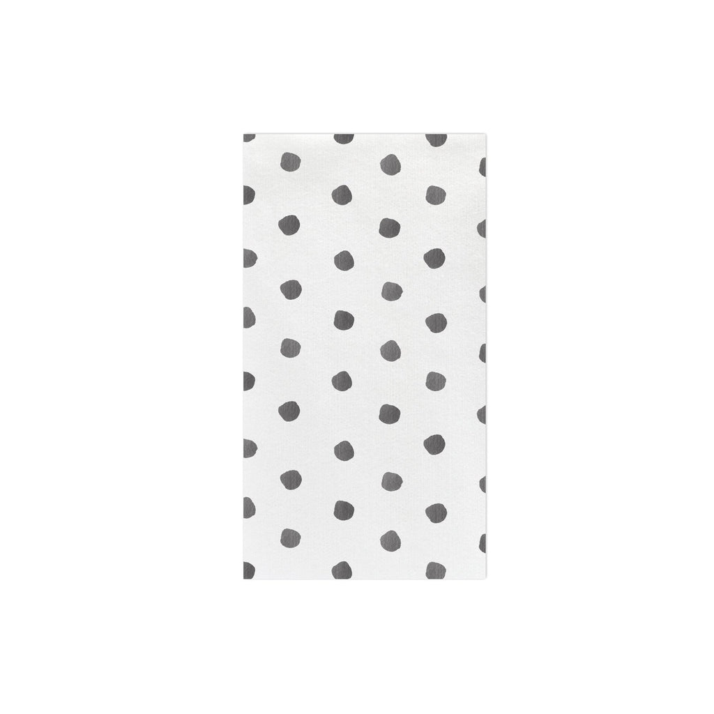 VIETRI | Papersoft Napkins Dot Gray Guest Towels, Pack of 20
