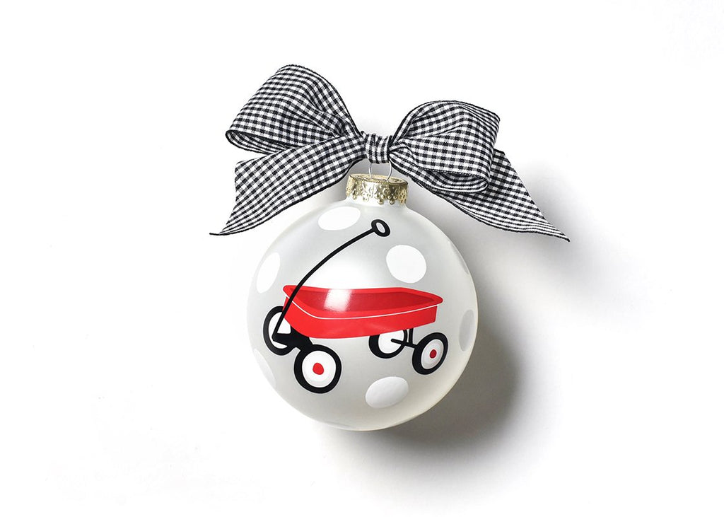 Limited Edition St. Jude Glass Ornament - Red Wagon