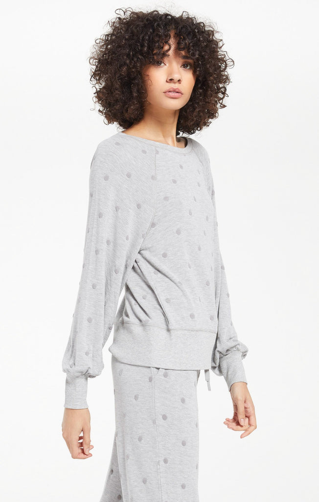 Brook Dot Long Sleeve Top