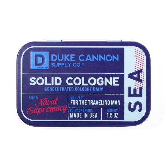 Duke Cannon | Solid Cologne Tin - Land, Sea, & Sky