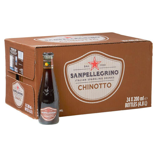 San Pellegrino Chinotto FULL CASE, 24 x 6.75 fl oz, Glass Bottles