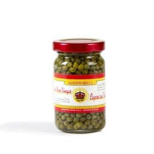 Agostino Recca Capers in Vinegar, 2.3 oz | 65g Jar