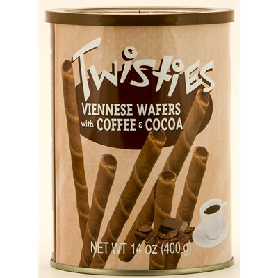 Twisties Viennese Wafers - Coffee & Cocoa Creme, 14.1 oz | 400g tin