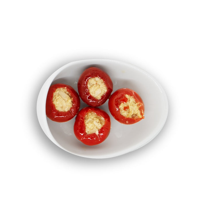 Tutto Calabria Hot Cherry Peppers Stuffed with Tuna, 10.2 oz | 290g