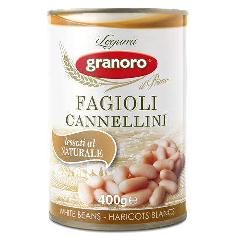Granoro Cannellini Beans, White Beans, 14 oz | 397g