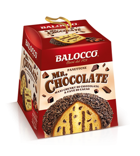 Balocco Mr. Chocolate Panettone, 28.2 oz | 800g