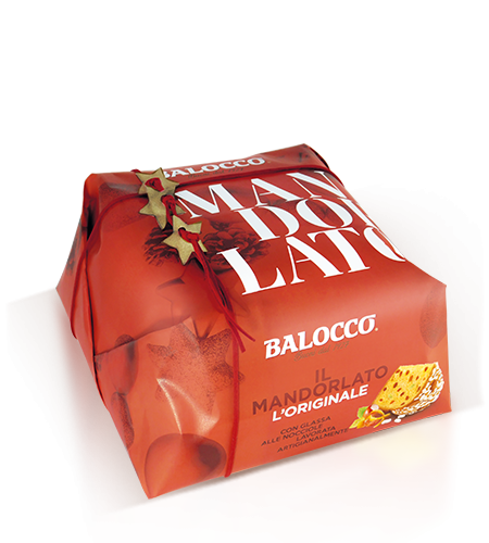 Balocco il Mandorlato Gift Wrapped Panettone with Almonds and Sugar, 1000g