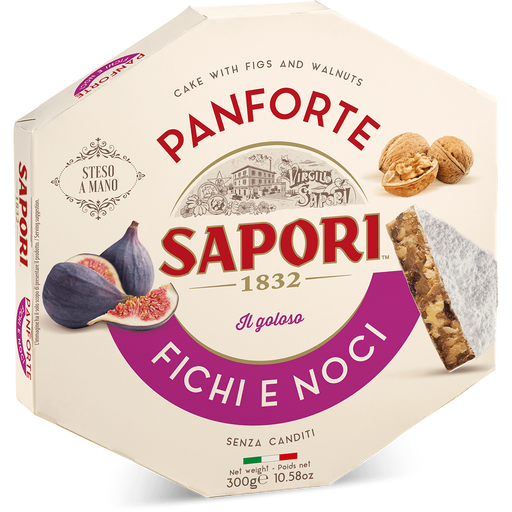 Sapori Panforte Fichi e Noci, Panforte With Fig and Walnuts, 10.58 oz