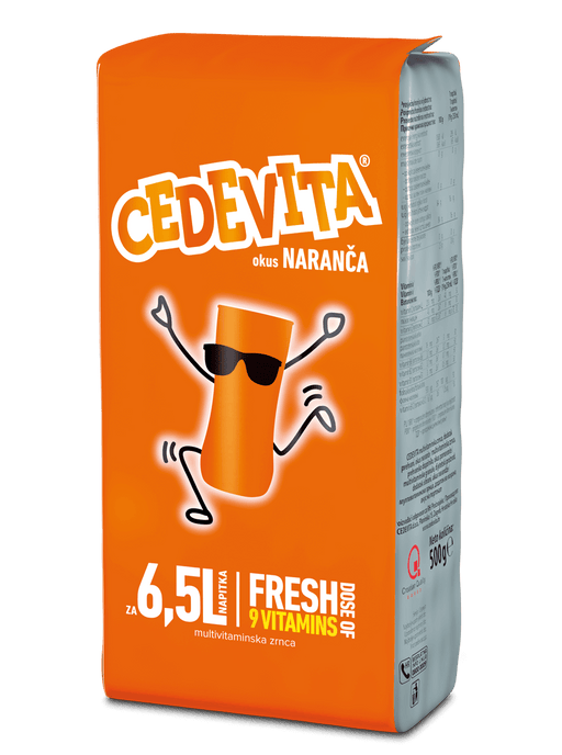 Cedevita Orange Flavor Vitamin Drink, 500g
