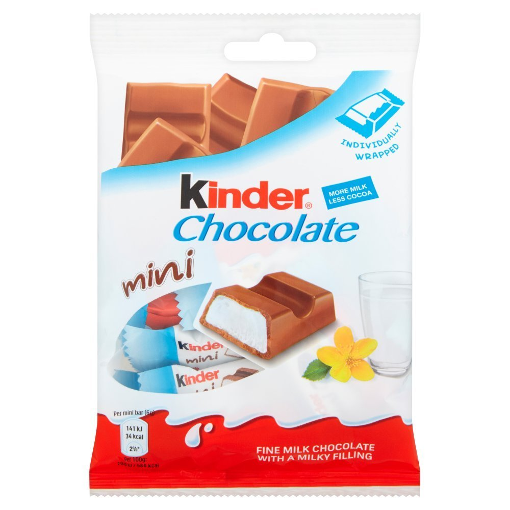 Kinder Mini Chocolate Pouch, 120g - 19pc