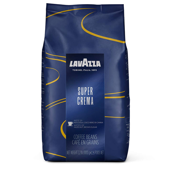 Lavazza Super Crema Whole Bean Coffee Blend, Medium Espresso Roast, 2.2 Pound