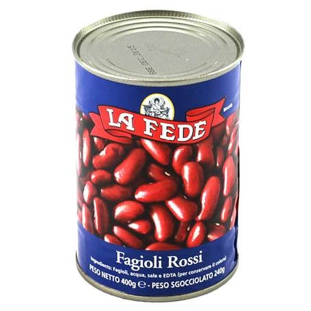La Fede Italian Red Kidney Beans, 14 oz | 400g Can