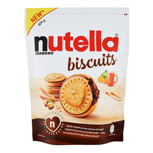 Ferrero Nutella Biscuits, Resealable Bag, 304g