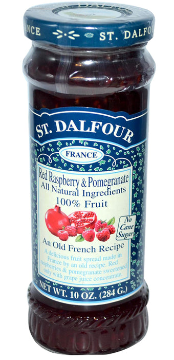 St. Dalfour Red Raspberry & Pomegranate Fruit Spread 10oz