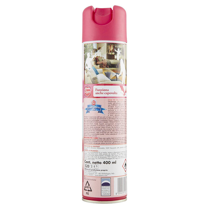 Good Air Dry - Bouquet of Rose and Jasmine, Spray deodorant for rooms and fabrics, 400ml