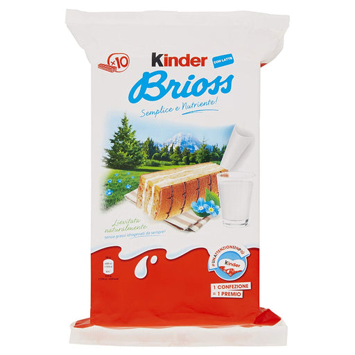 Ferrero Kinder Brioss Latte Pack of 10 x 0.98 Oz Pieces