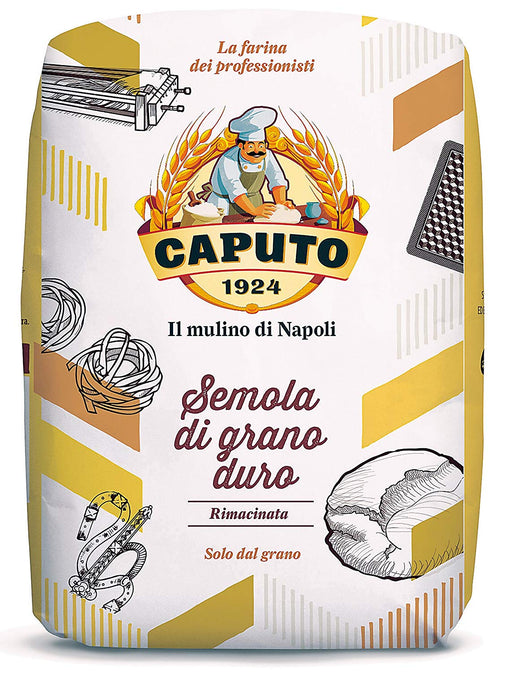 Caputo Semola Rimacinata - Double Milled Durum Wheat Semolina, 2.2 lb