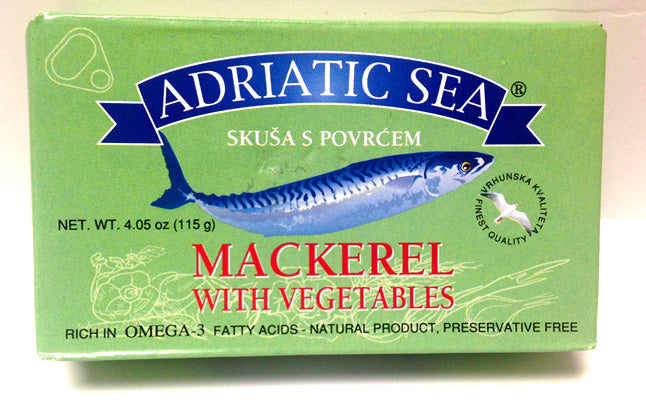Adriatic Sun Mackerel with Vegetables, 115g