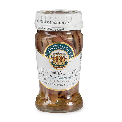 Agostino Recca Fillet of Anchovies in Olive Oil,  3.18 oz | 90g