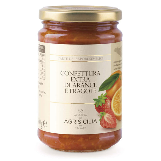 Agrisicilia Orange and Strawberry Jam, 12.7 oz | 360g