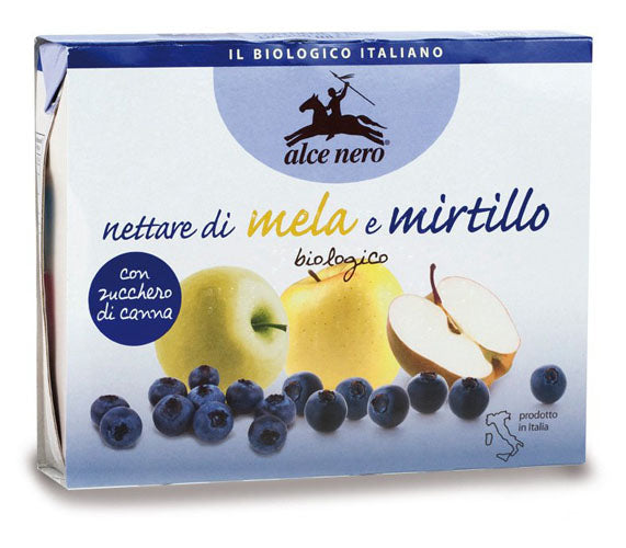 Alce Nero Organic Apple and Blueberry Nectar 200ml x 3 brik