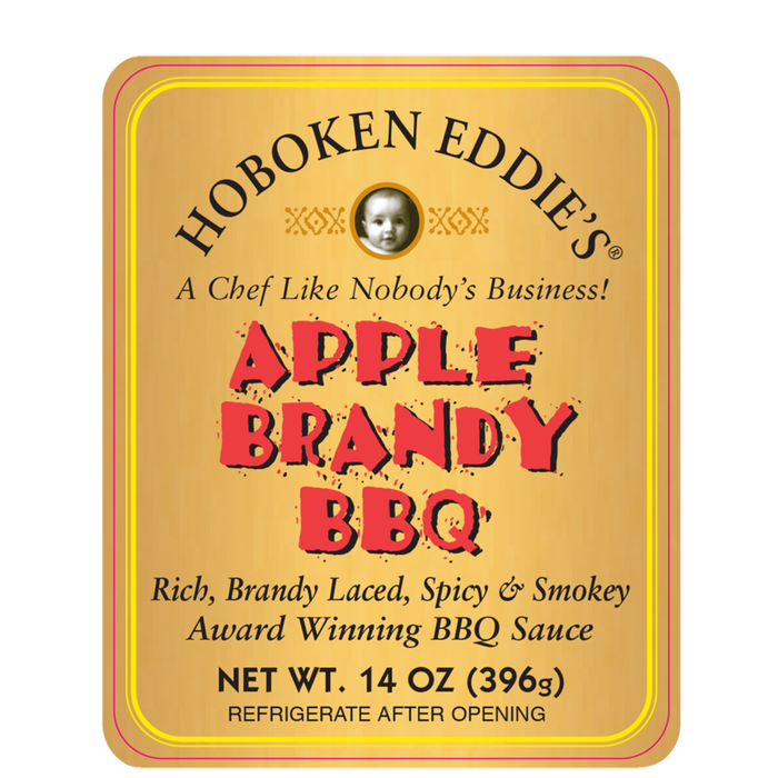 Hoboken Eddie's Apple Brandy BBQ, 14 oz