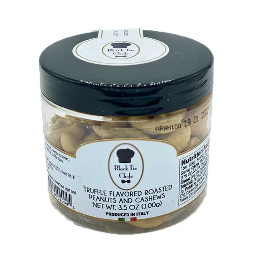 Black Tie Chefs Truffle Flavored Roast Peanuts And Cashews, 3.5 oz | 100g