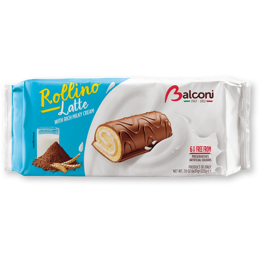 Balconi Rollino Milk, Latte with Rich Milky Cream, 7.8 oz | 222 g