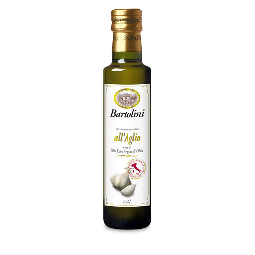 Bartolini Extra Virgin Olive Oil w/ Garlic, 8.4 fl oz | 250 ml