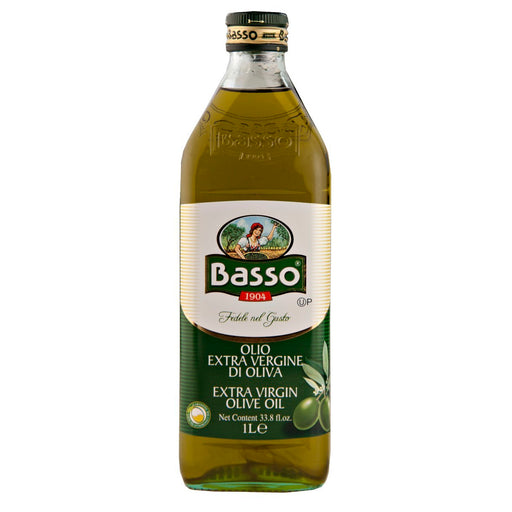 Basso Extra Virgin Olive Oil, Cold Extracted, Pack in Italy,  33.8 fl oz | 1 Liter