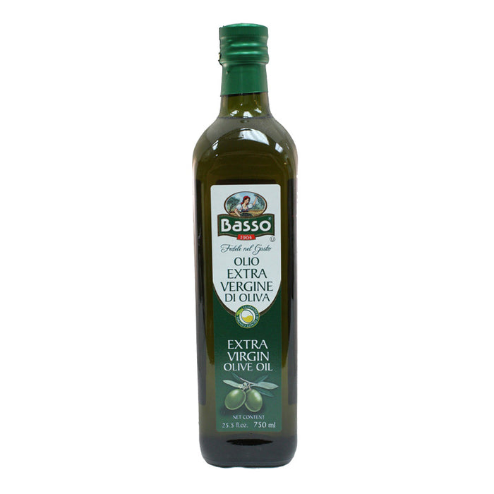 Basso Extra Virgin Olive Oil, 25.5 FL | 750 mL Bottle