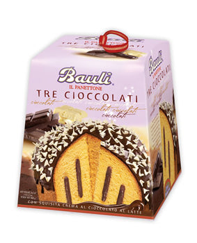 Baul Panettone 3 Cioccolates, 28.2 Oz