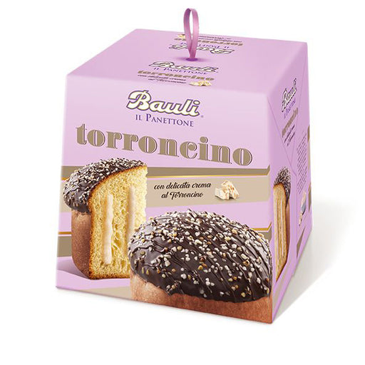 Bauli Panettone Torroncino, Chocolate Covered with Nougat Cream Filling, 26.4 Oz