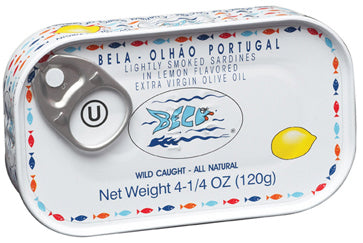 Bela Smoked Sardine Lemon Flavored Extra Virgin Olive Oil 120g