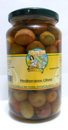 Bella Mia Mediterranee Olives 13 oz (Drained Weight)