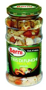Berni Tris Di Funghi Trifolati (Tris of mushrooms) 280g