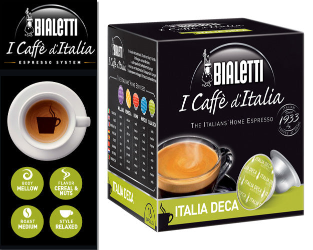 "Bialetti ""Italia Decaf"" for Mini Express Machine, 16 Capsules"