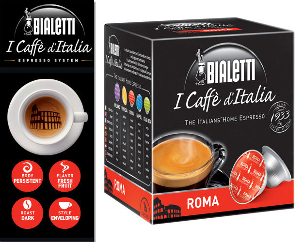 "Bialetti ""Roma"" for Mini Express Machine, 16 Capsules"