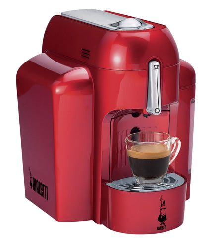 Bialetti Mini Express Machine, Single Serve in RED