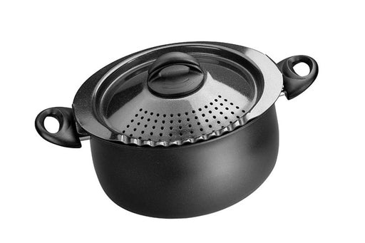 "Bialetti ""Trends"" 5Qt. Pasta Pot Black"