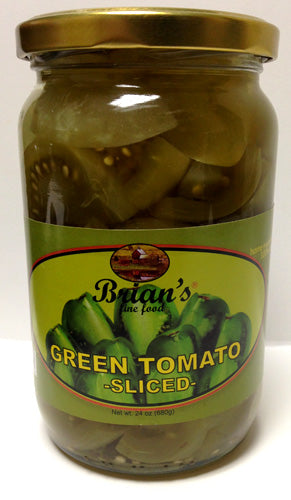 Brian's Green Tomato Sliced, 680g