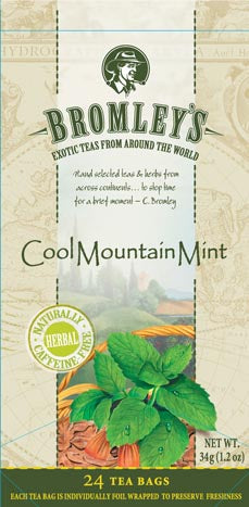 Bromley's Cool Mountain Mint, 24 Tea Bags, 34g