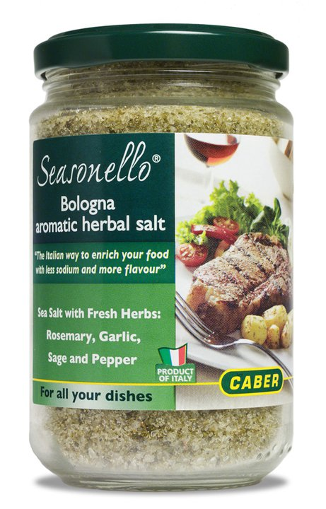 Caber Seasonello Aromatic Herbal Sea Salt 10.58 oz Jar