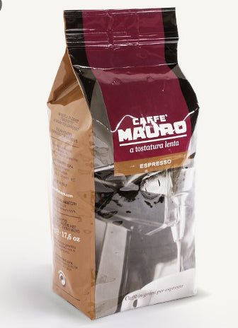 Caffe Mauro Espresso Beans, 500g Package