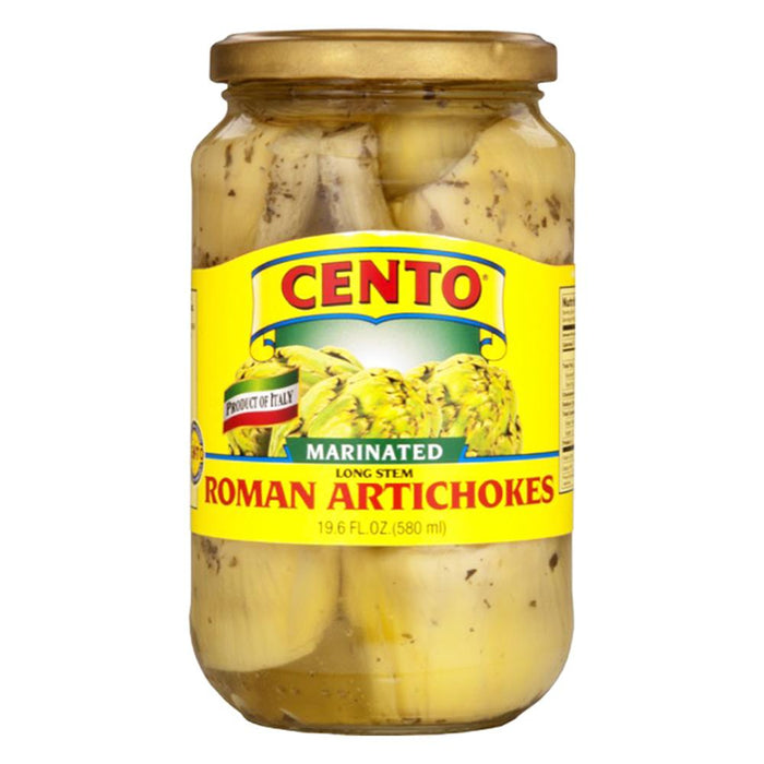 Cento Marinated Roman Artichokes, 19.6 oz | 580 ml