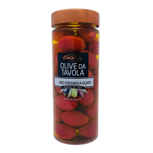 Cinquina Red Cerignola Olives, 11.35 oz