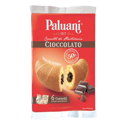 Paluani Croissant with Chocolate Cream Filling, Crema Cioccolato, 252g