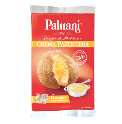 Paluani Krapfen with Custard Cream Filling, Crema Pasticcera, 252g